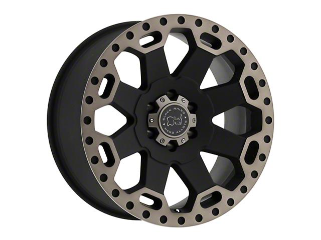 Black Rhino Warlord Dark Tint Matte Black Wheel - 18x8 (97-06 Jeep Wrangler TJ)