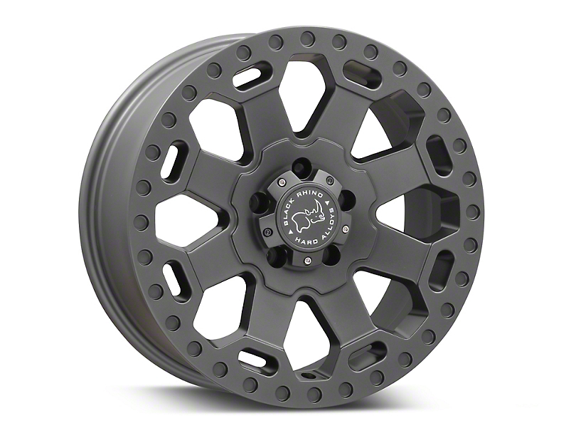 Black Rhino Warlord Matte Gunmetal Wheel - 18x8 (97-06 Jeep Wrangler TJ)