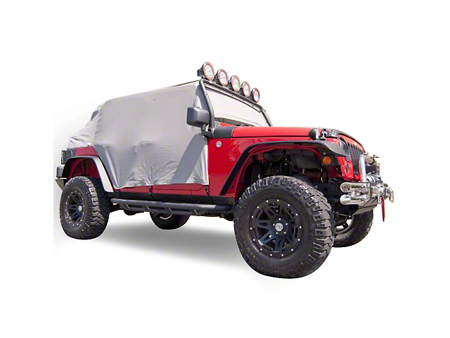 Rugged Ridge Cab Cover; Gray (07-18 Jeep Wrangler JK 4 Door)