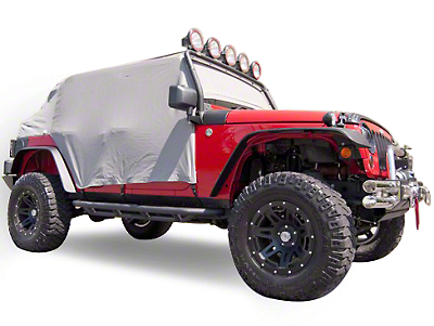 Rugged Ridge Gray Vinyl Water Resistant Cab Cover (07-18 Wrangler JK 4 Door)