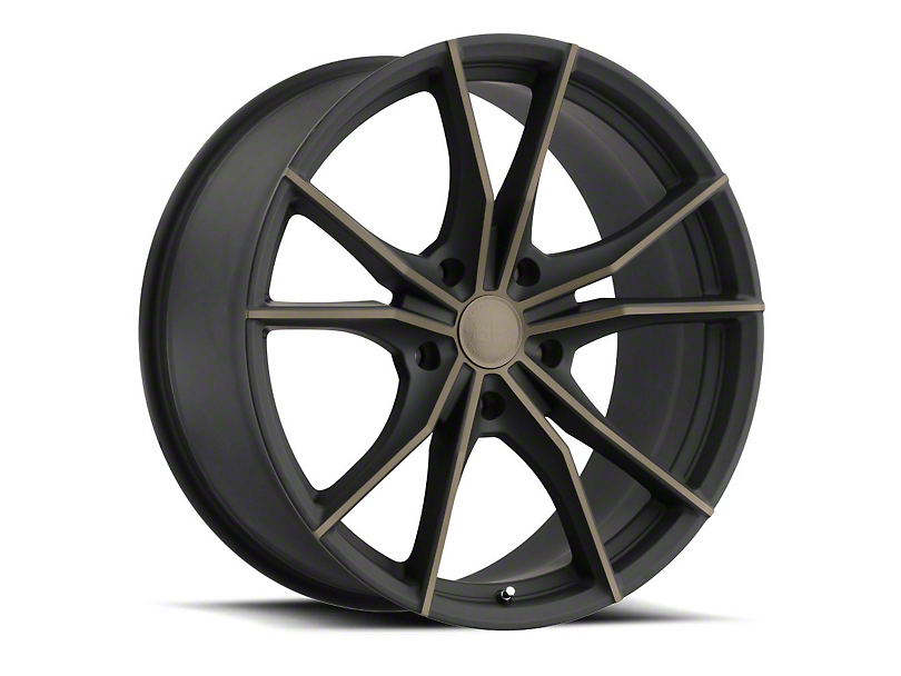 Black Rhino Zion Dark Tint Matte Black Machined Wheel - 20x9 (97-06 Jeep Wrangler TJ)