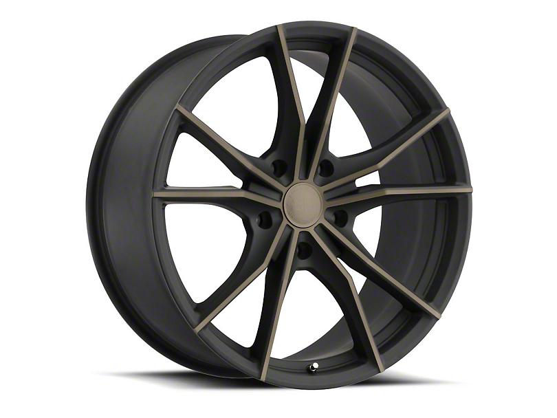 Black Rhino Zion Dark Tint Matte Black Machined Wheel - 22x9.5 (97-06 Jeep Wrangler TJ)