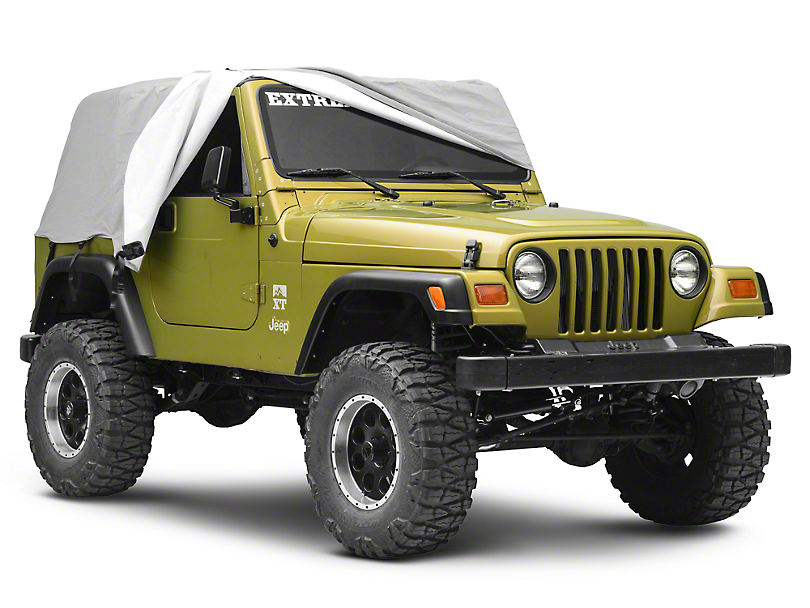 Smittybilt Gray Water Resistant Cab Cover w/ Door Flaps (92-06 Jeep Wrangler YJ & TJ)
