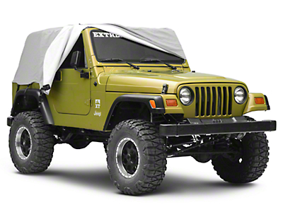 Smittybilt Gray Water Resistant Cab Cover w/ Door Flaps (92-06 Wrangler YJ & TJ)