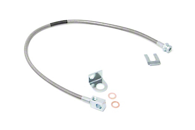 Rough Country Rear Extended Stainless Steel Brake Lines for 4-6 in. Lift (87-06 Jeep Wrangler YJ & TJ)