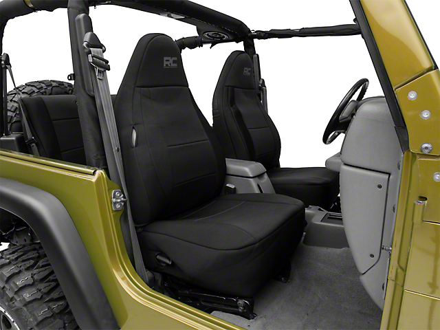 Jeep Seat Covers >> Rough Country Jeep Wrangler Neoprene Seat Covers Black 91000 97