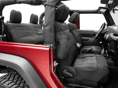 Rough Country Neoprene Seat Covers - Black (13-18 Jeep Wrangler JK 2 Door)