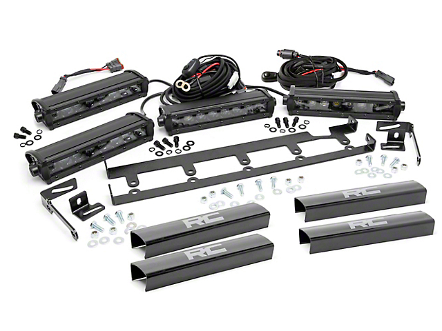 Rough Country Jeep Wrangler 8 in. Chrome Series Vertical