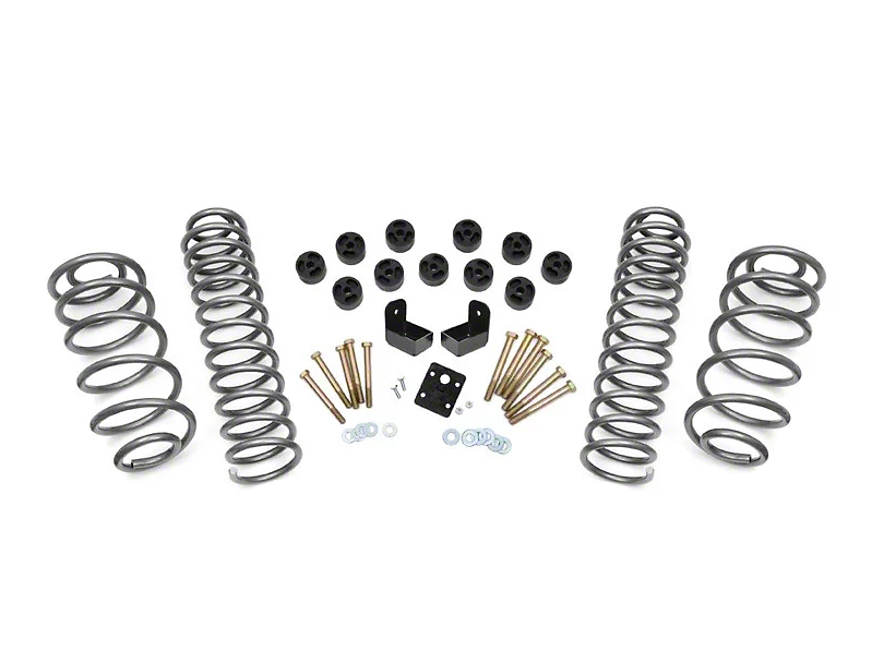 Rough Country 3.75 in. Suspension & Body Combo Lift Kit (97-06 4.0L Jeep Wrangler TJ)
