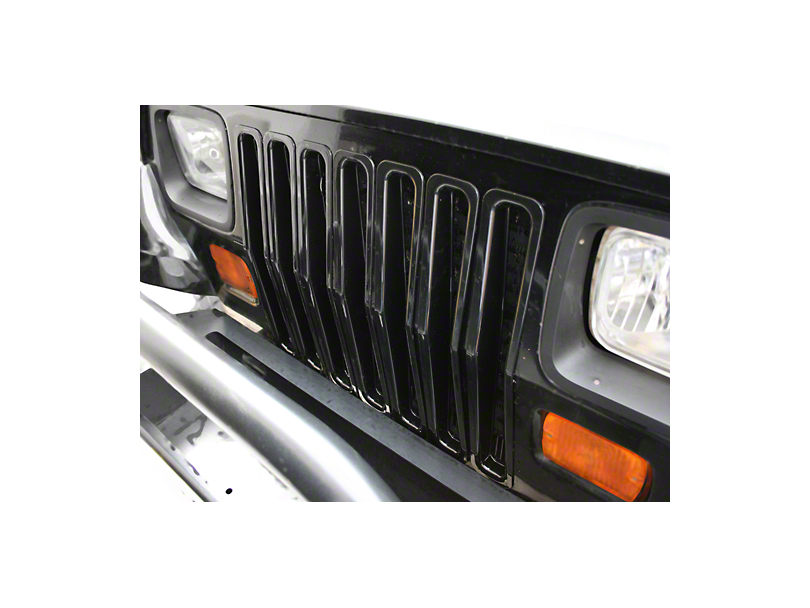 Rugged Ridge Grille Insert Kit Black Plastic (87-95 Wrangler YJ)