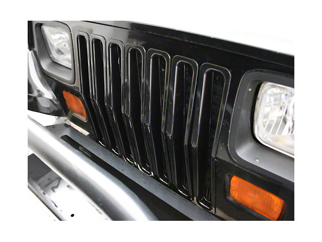 Rugged Ridge Grille Inserts - Black (87-95 Jeep Wrangler YJ)