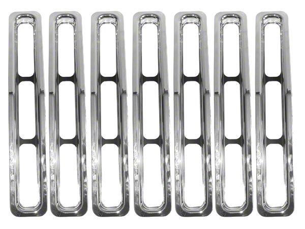 Rugged Ridge Grille Inserts - Chrome (87-95 Jeep Wrangler YJ)