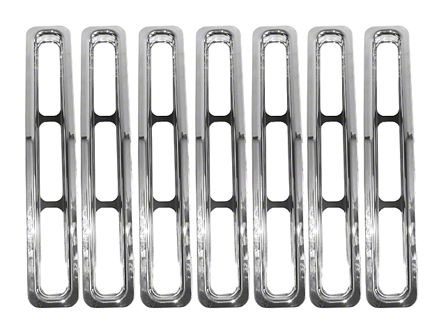Rugged Ridge Grille Inserts - Chrome (87-95 Jeep Wrangler YJ)