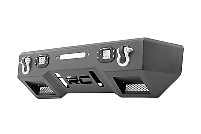 Rough Country Chrome Series LED Stubby Front Bumper w/ Winch Mount (2018 Jeep Wrangler JL)