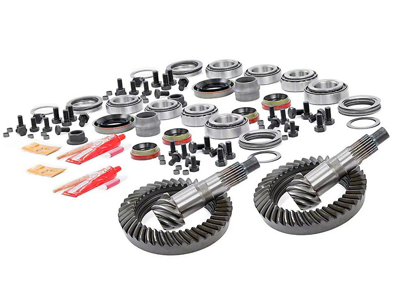 Rough Country Dana 30 Front Axle/35 Rear Axle Ring Gear and Pinion Kit w/ Install Kit - 4.56 Gears (97-06 Jeep Wrangler TJ)