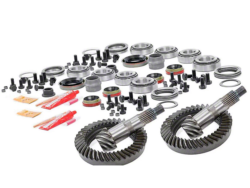 Rough Country Dana 30 Front Axle/35 Rear Axle Ring Gear and Pinion Kit w/ Install Kit - 4.88 Gears (97-06 Jeep Wrangler TJ)