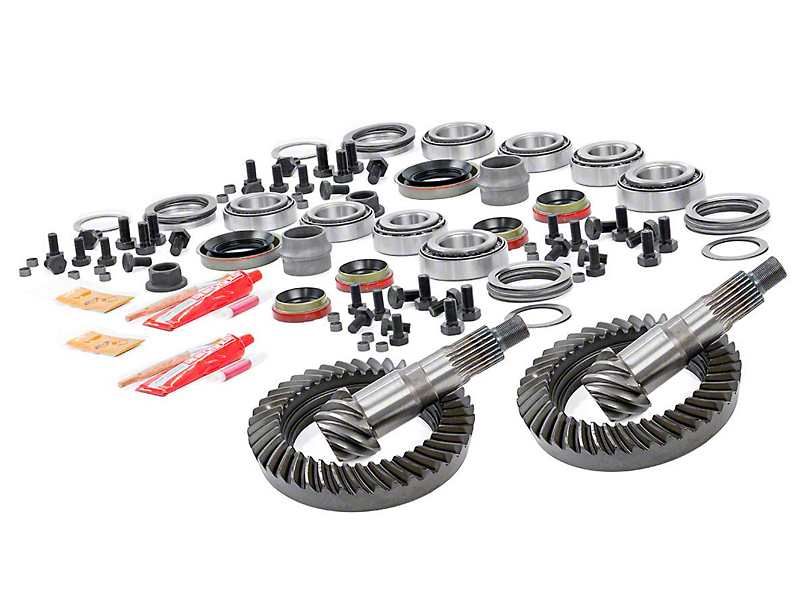 Rough Country Dana 30 Front Axle/44 Rear Axle Ring and Pinion Gear Kit with Install Kit; 5.13 Gear Ratio (07-18 Jeep Wrangler JK, Excluding Rubicon)