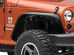 Rough Country Tubular Fender Flares; Front and Rear (07-18 Jeep Wrangler JK)