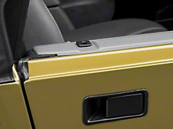 Rugged Ridge Half Door Insert Kit; Black (87-06 Jeep Wrangler YJ & TJ)