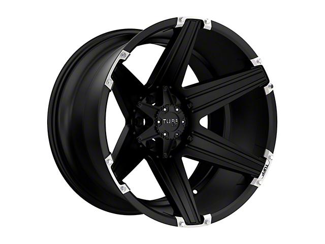 Tuff A.T. T12 Satin Black w/ Brushed Inserts Wheel - 20x10 (87-06 Jeep Wrangler YJ & TJ)