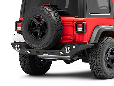 DV8 Off-Road Full Length Rear Bumper w/ LED Lights (2018 Jeep Wrangler JL)