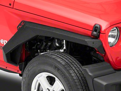 DV8 Off-Road Armor-Style Fenders w/ Vents & Turn Signals (18-19 Jeep Wrangler JL)