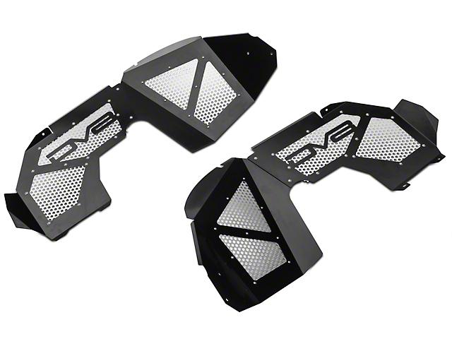 DV8 Offroad Front Aluminum Inner Fenders; Black (20-21 Jeep Gladiator JT)