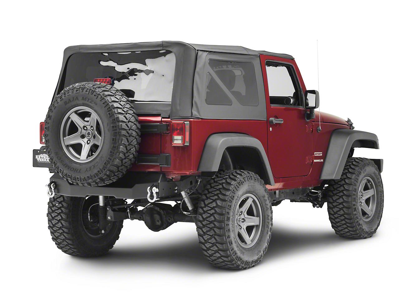 Hyline Offroad Canyon Stubby Rear Bumper (07-18 Jeep Wrangler JK)