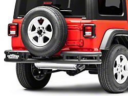 RedRock 4x4 Tubular Rear Bumper w/ Wrap Around - Textured Black (18-19 Jeep Wrangler JL)