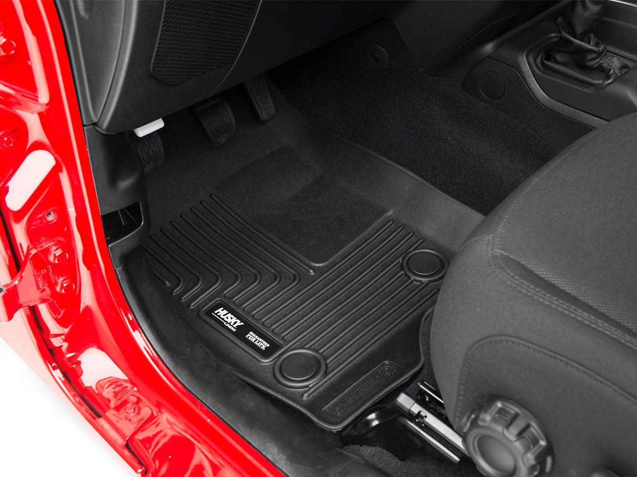 Husky WeatherBeater Front Floor Liners - Black (2018 Jeep Wrangler JL)