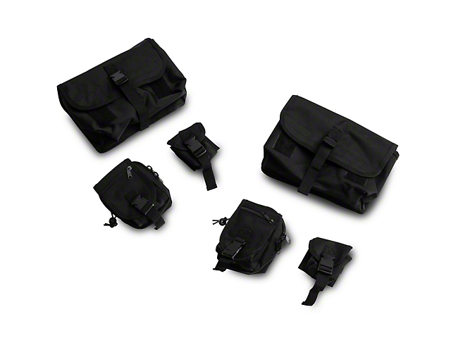 Rugged Ridge MOLLE Roll Bar Storage Bay System (18-20 Jeep Wrangler JL Rubicon)