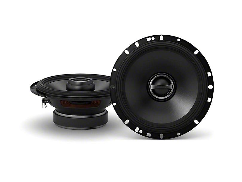 Alpine S-Series Coaxial 2-Way Speakers; 80W; 6.50-Inch (07-18 Jeep Wrangler JK)