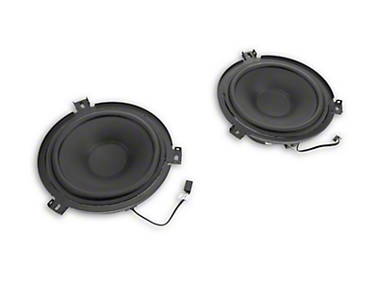 Alpine Front & Rear 6.5 in. Convertible Speakers - 75w (07-18 Jeep Wrangler JK)