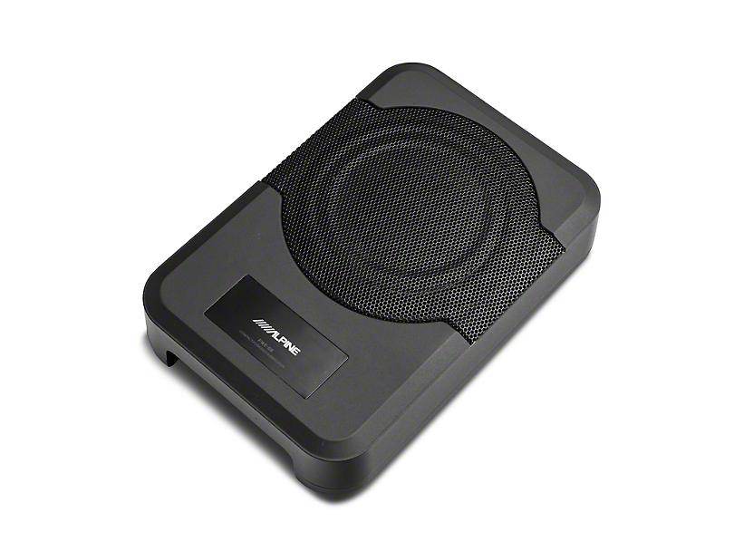 Alpine 8 in. Compact Powered Subwoofer System (11-18 Jeep Wrangler JK 4 Door)