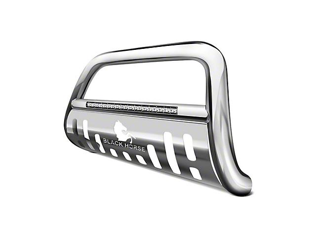 Black Horse Off Road Beacon LED Bull Bar - Stainless Steel (18-19 Jeep Wrangler JL)