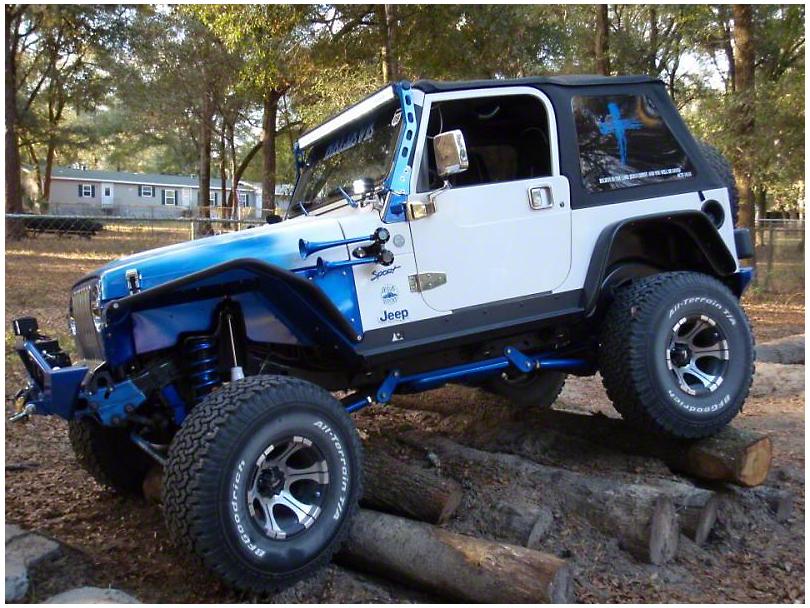 N-Fab 50 in. LED Light Bar Windshield Mounting Brackets - Textured Black (97-06 Jeep Wrangler TJ)