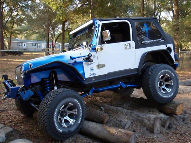 N Fab Jeep Wrangler 50 In Led Light Bar Windshield