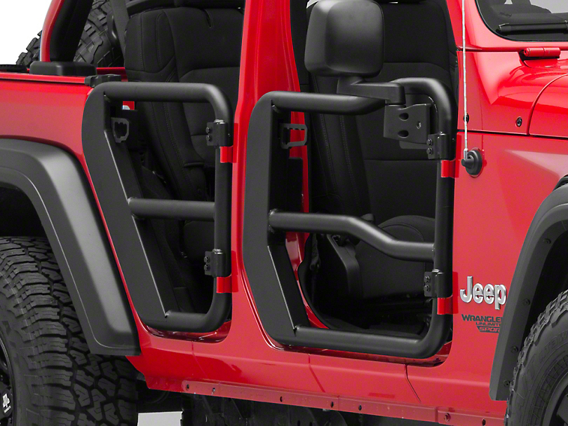 Rugged Ridge Front Tube Doors w/ Mirrors (18-20 Jeep Wrangler JL)