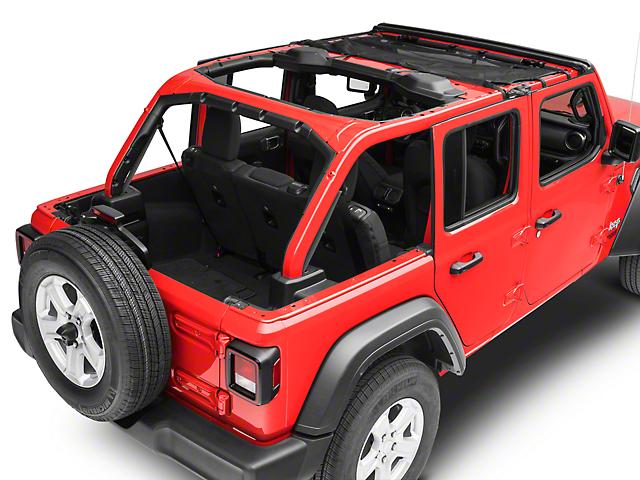 Rugged Ridge Front Eclipse Sun Shade - Black (18-19 Jeep Wrangler JL 4 Door)