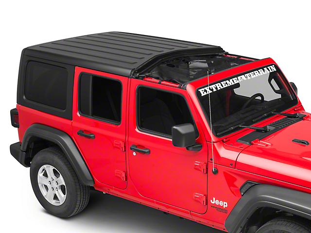 Rugged Ridge Front Hard Top Eclipse Sun Shade - Black (18-20 Jeep Wrangler JL)