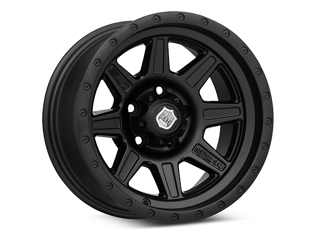 Mickey Thompson Deegan 38 Pro 2 Black Wheel; 15x8 (87-95 Jeep Wrangler YJ)