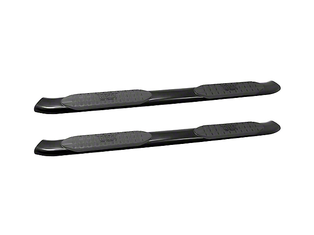 Westin 5 in. Pro Traxx Oval Side Step Bars - Black (18-19 Jeep Wrangler JL 4 Door)