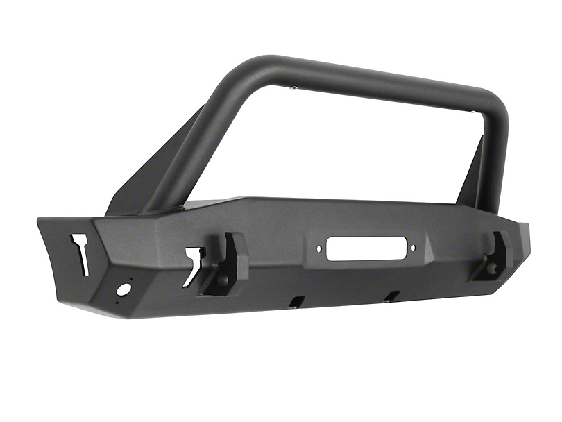 Westin WJ2 Stubby Front Bumper w/ Bull Bar - Textured Black (18-19 Jeep Wrangler JL)