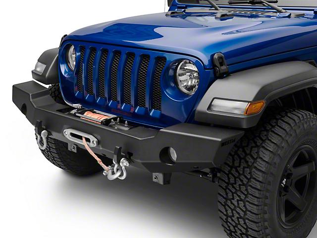Westin WJ2 Full Width Front Bumper - Textured Black (18-19 Jeep Wrangler JL)