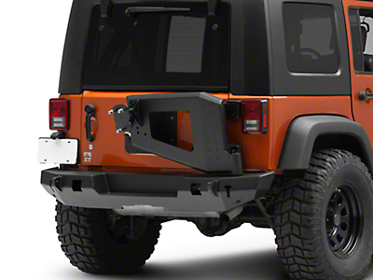 Westin WJ2 Rear Bumper w/ Tire Carrier - Textured Black (07-18 Jeep Wrangler JK)