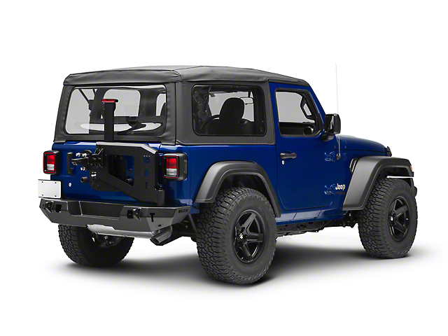 WJ2 Rear Bumper with Tire Carrier; Textured Black (18-21 Jeep Wrangler JL)