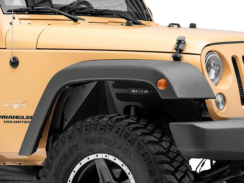 Inner Fenders; Textured Black (07-18 Jeep Wrangler JK)