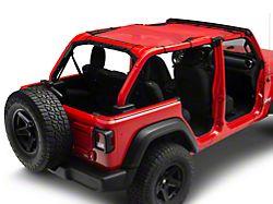 Steinjager Teddy Top Full Length Solar Screen Cover; Red (18-21 Jeep Wrangler JL 4-Door)