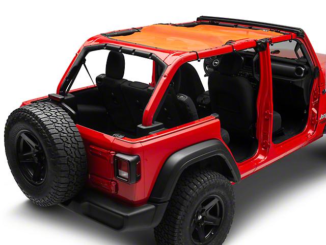 Steinjager Teddy Top Full Length Solar Screen Cover; Orange (18-20 Jeep Wrangler JL 4 Door)
