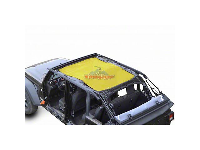 Steinjager Teddy Top Full Length Solar Screen Cover; Yellow (18-21 Jeep Wrangler JL 4 Door)